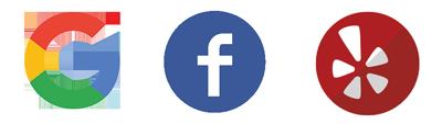 facebook,google-plus,-yelp